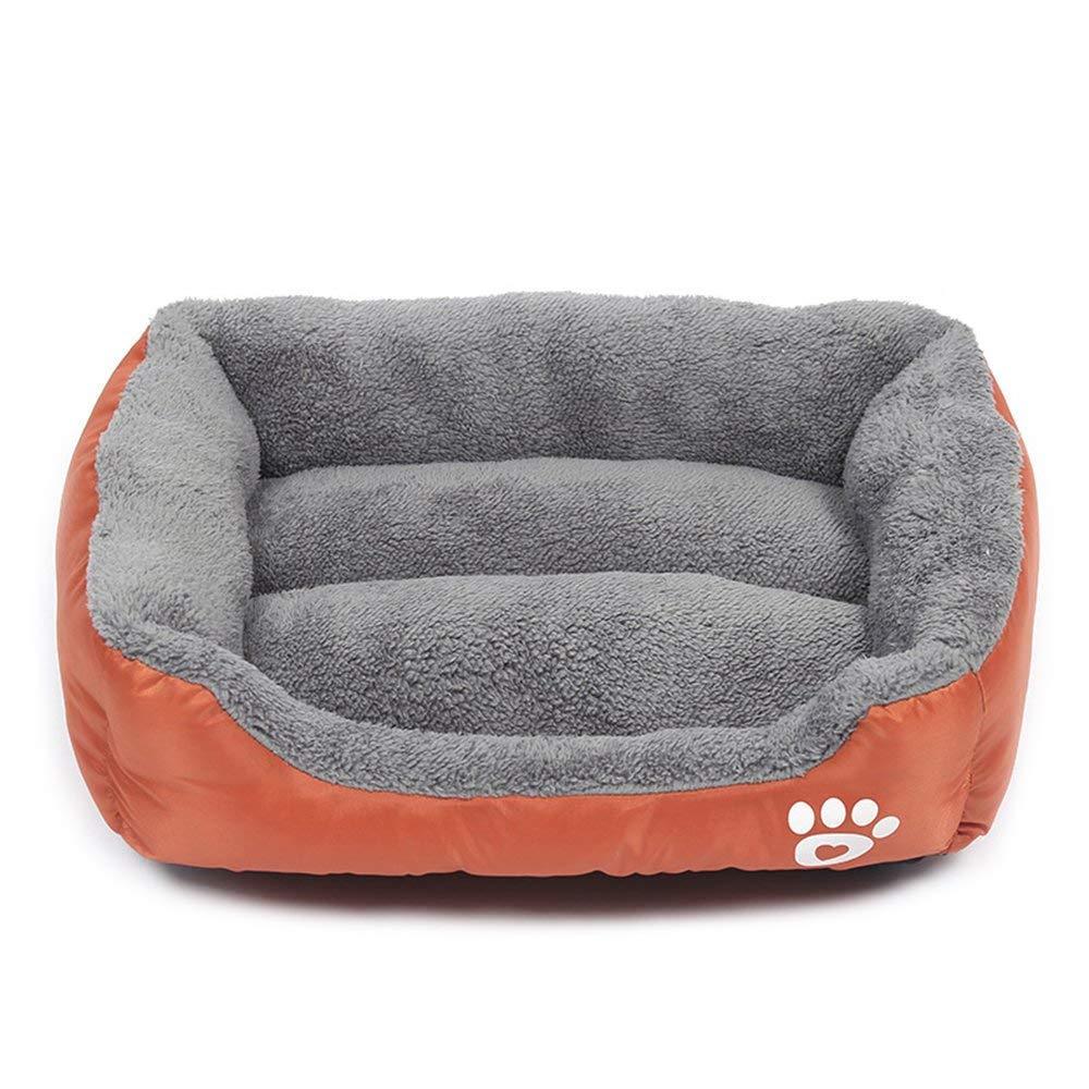 Hundebett mit Wendekissen Hundesofa Schlafplatz unten einen Anti-Rutschboden Grö ß e wä hlbar von S bis XXL schwarz) zhenghewyh