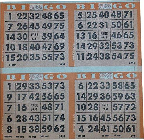 4onオレンジ画面印刷Bingoペーパー( 500)