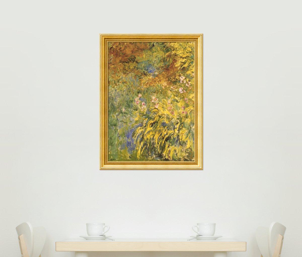 Amazon.com: Framed Art Print, Irises\' by Claude Monet: Outer Size 24 ...