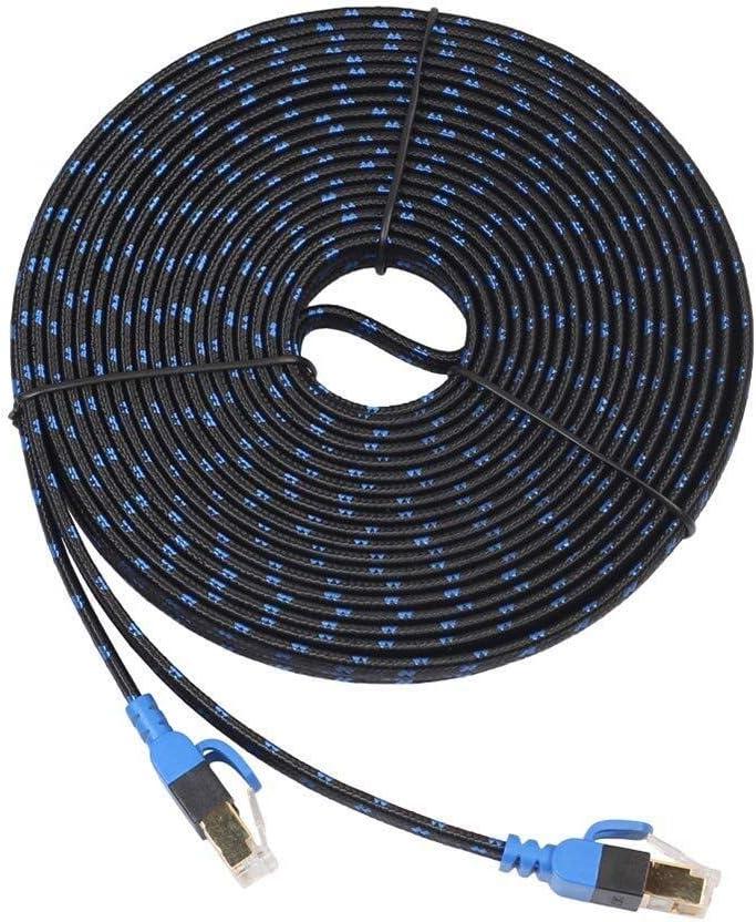 10 Gbps RJ45 Cat7 LAN Red PVC Plano Internet Ethernet Cable Cable Línea de Cable PC Router inalámbrico NAS