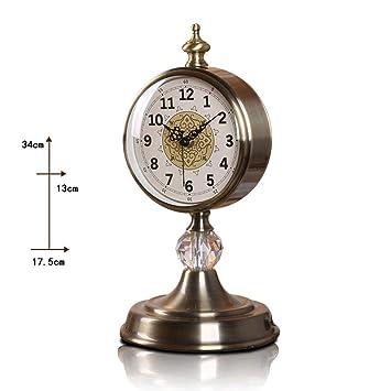 WW Reloj de mesa Reloj de estilo europeo Reloj de sala de estar Relojes creativos,