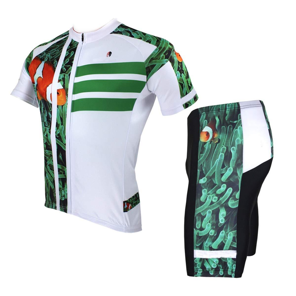 Fahrrad Reitanzug Sommer Herren Feuchtigkeit Sweat Jersey Shorts Leichte Quick Dry Bike Jersey Fahrradtrikot LPLHJD