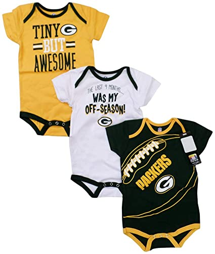 d3e323907 Outerstuff Green Bay Packers Game Day Baby Infant 3 Piece Creeper Set 12  Months