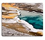 Liili Mouse Pad Natural Rubber Mousepad IMAGE ID 33280495 Upper Geyser basin Yellowstone National park USA