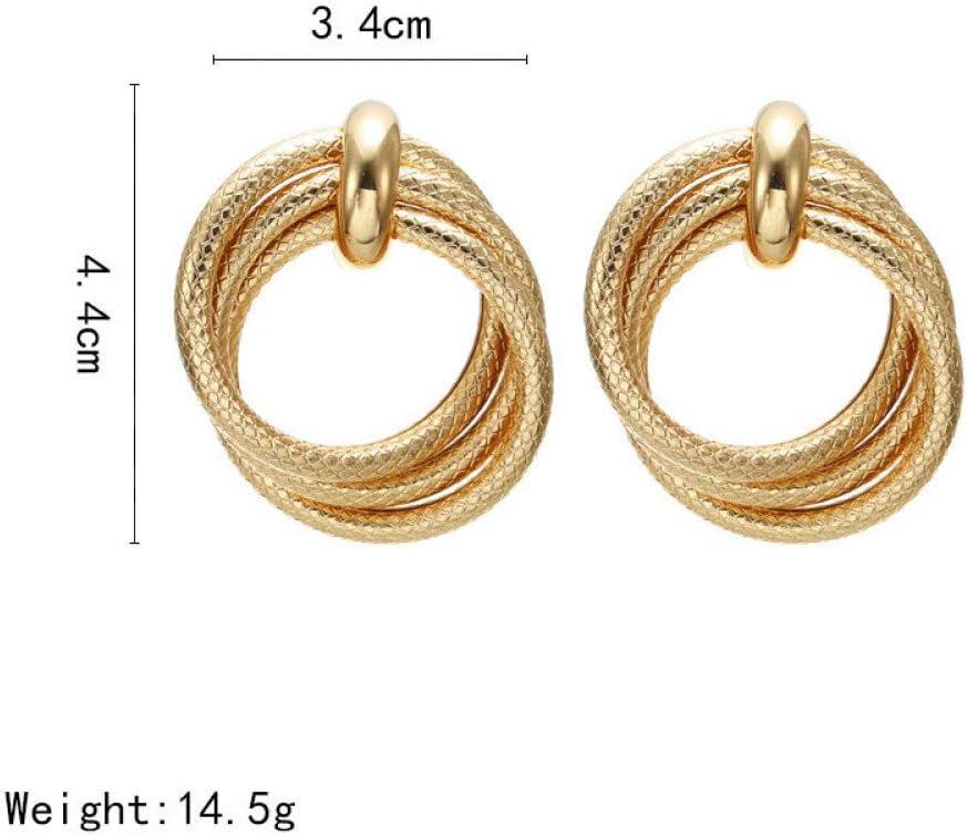 Runde Ohrringe Mode Frauen Metall Pailletten Ohrringe Zubehör Punk Y6Q8