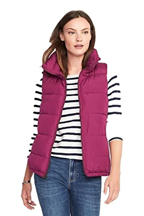 bf861e94f5542 Old Navy Holidays Frost Free Vest Women (Small, Galore Berries) at Amazon Women's  Coats Shop