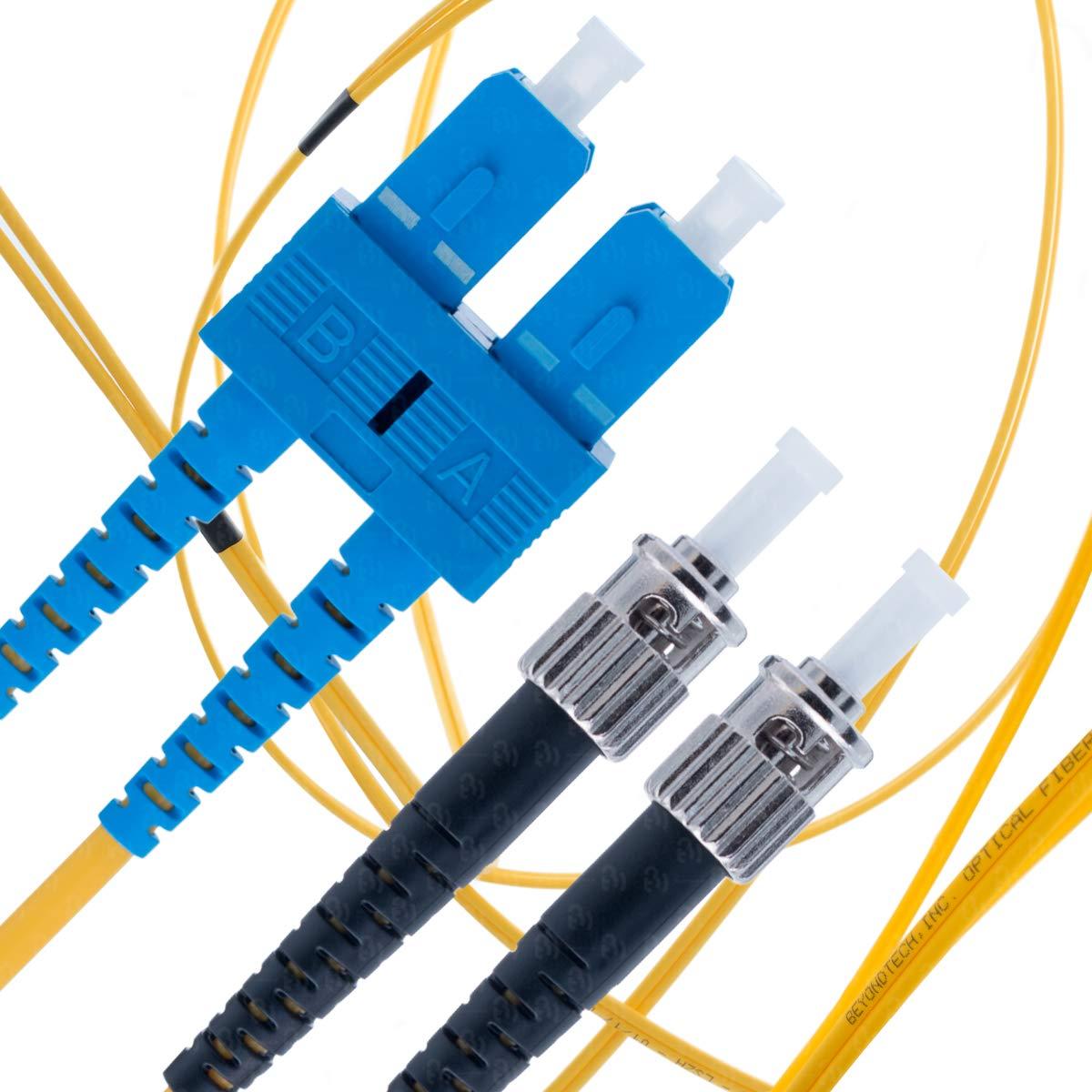 Cable Fibra Optica OS1 5mt SC a ST DUPLEX 9/125 Beyondtech