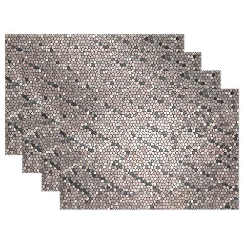 Mosaic Stones Glass Pattern Texture Template Placemats Set Of 4 Heat Insulation Stain Resistant For Dining Table Durable Non-slip Kitchen Table Place ()