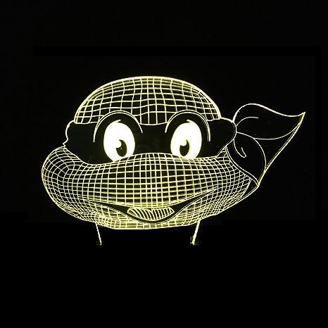 Wmshpeds Ninja Tortugas 3D luces de colores luces LED táctil ...