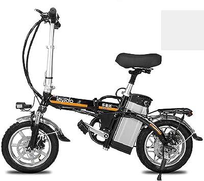 ZBB Bicicleta eléctrica portátil Plegable Bicicleta híbrida para ...