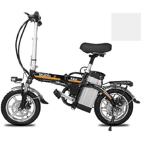 ZBB Bicicleta eléctrica portátil Plegable Bicicleta híbrida ...