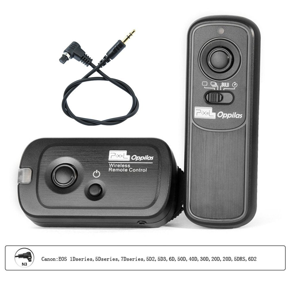 Pixel RW221 N3 Wireless Timer Shutter Release Remote Control for Canon EOS 1Dseries,5Dseries,7Dseries,5D2,5D3,6D,50D,40D,30D,20D,20D,5DRS,6D2 by PIXEL