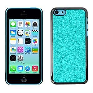 TopCaseStore / la caja del caucho duro de la cubierta de protección de la piel - Light Blue Background Shining Glitter - Apple iPhone 5C