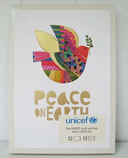 Unicef Christmas Cards.Amazon Com Hallmark Christmas Boxed Cards Urs5185 Peace On