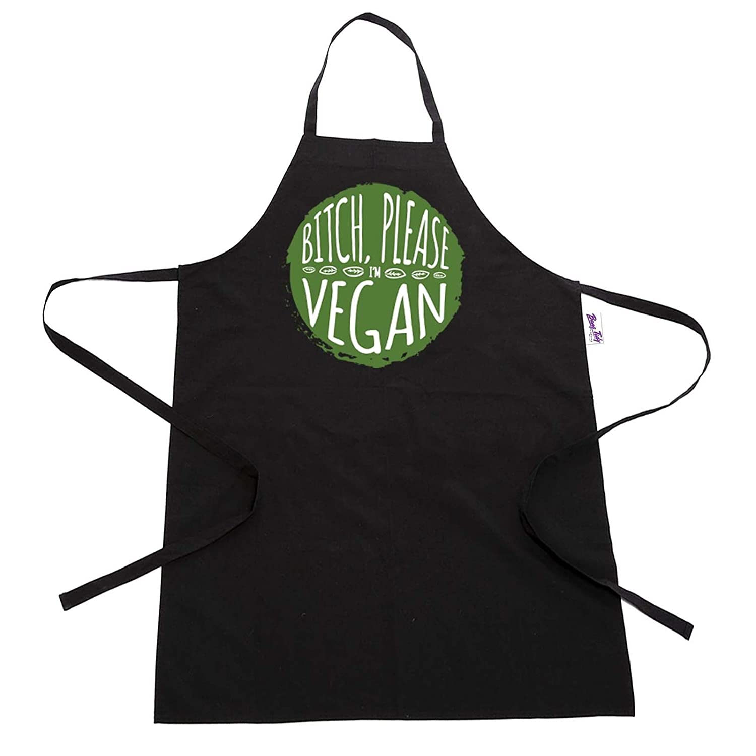 Funny BBQ Apron Novelty Aprons Cooking Gifts for Men Bitch Please, I'm Vegan I'm Vegan BANG TIDY CLOTHING HF122