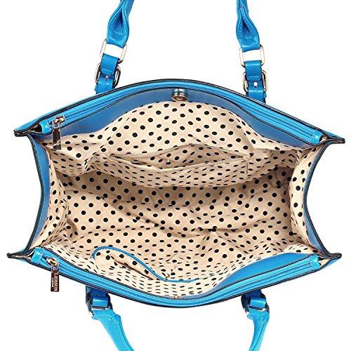 Xardi London - Bolso de hombro mujer Blue Style 2