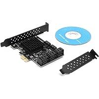 Karta PCI Express z 8 Interfejsami SATA3.0, Kompatybilna z SATA6G, 3G i 1.5G, Obsługuje WINXP WIN7 WIN8 WIN10, Ubuntu…