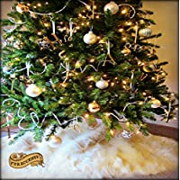 Faux Fur Round Christmas Tree Skirt