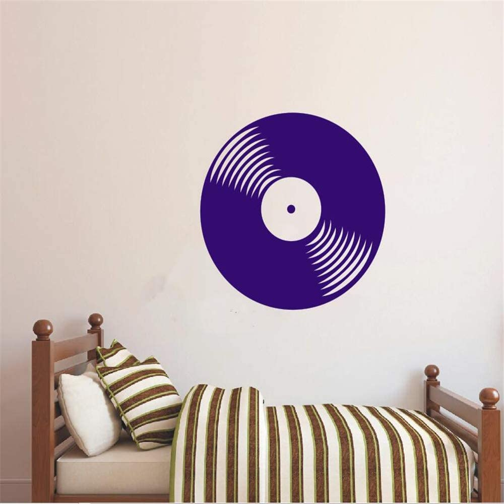 Ajcwhml Etiqueta de la Pared Vinilo Etiqueta Vinilo Disco Retro Música Clásica Casa Salón Art Deco Desmontable Cartel 57X57 CM: Amazon.es: Hogar