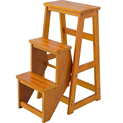 Tremendous Double Sided Step Stool 3 Steps Wooden Practical Steps Beatyapartments Chair Design Images Beatyapartmentscom