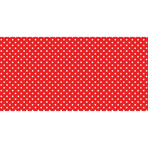 Fadeless Designs Bulletin Board Art Paper, 4-Feet by 50-Feet, Red & White Classic Dots - Red Product Design Dot