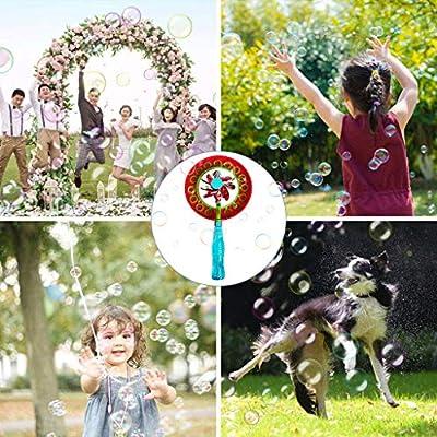 Afazfa Bubble Wands Kit 2-in-1 Magic Bubble Stick Windmill Portable Bubble Stick Children Outdoor Bubble Toy (Blue): Clothing