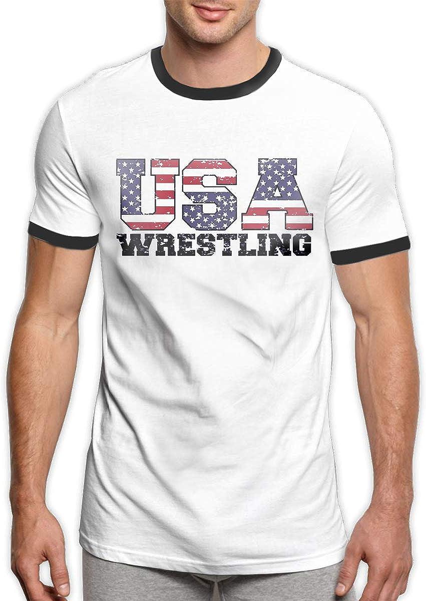 WORTHOY USA Wrestling Mens Casual Polo Shirt