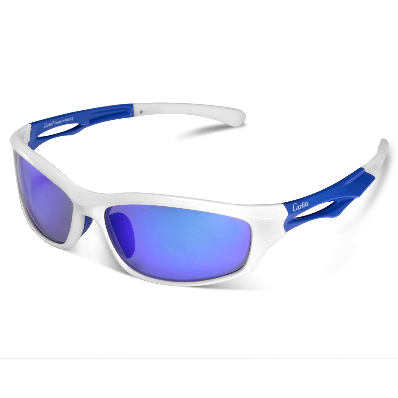 Gafas de Sol Deportivas, Carfia Gafas de Sol Deportivas Unisex Polarizadas con 100% Prtección UV400 para Viaje y Depoete al Aire Libre