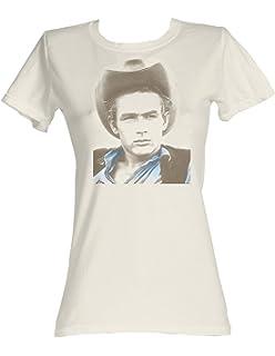 James Dean - Cowboy James Damen T-Shirt in Weiß  Amazon.de  Bekleidung 87be6190a4