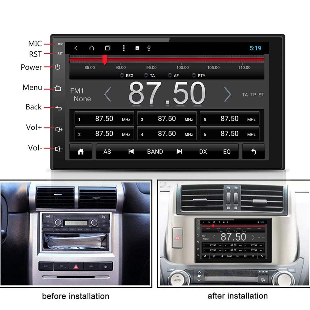 Car Stereo Mp5 Player 7in Bluetooth Wifi Octa Core Automobile Interior Lights Fader Android81 Gps Navigator Arts Crafts Sewing