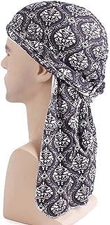Amorar Unisex Bandana Indian Turban Hats Long-Tail Wide Straps Headwraps Beanie Foulard Wrap Copricapo Sleepyhead Corsa cap Bike Casco Pirate Skull cap