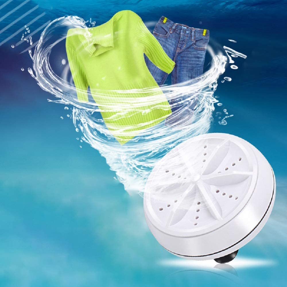 Mini Ultrasonic Washing Machine Portable Turbo Personal Rotating Washer Machine
