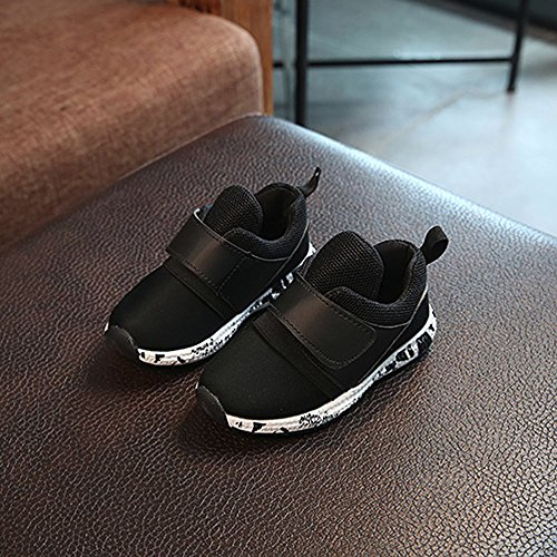 Hunpta Baby Soild Sneaker Kind Kleinkind Breathable Casual Schuhe Schwarz
