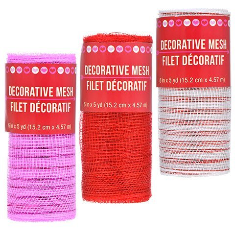 y Craft Home Decor Decoration Decorative Valentine Mesh, 5-yd. Rolls (Happy Mothers Day Bouquet)
