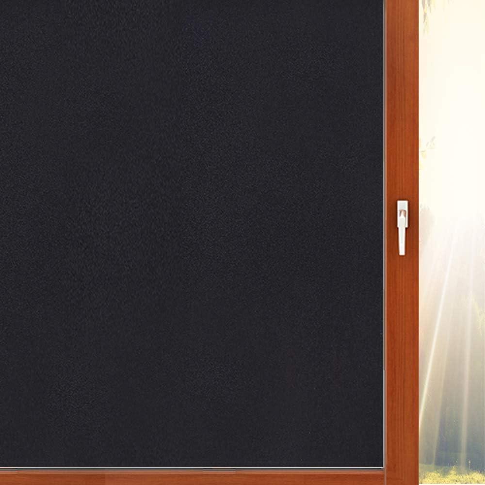 Aibily Blackout Window Film Room Darkening Window Tint,Window Privacy Cling,Great Light Blocker for Day Sleep&Baby's Room,Glare Control(17.7x78.7In.)