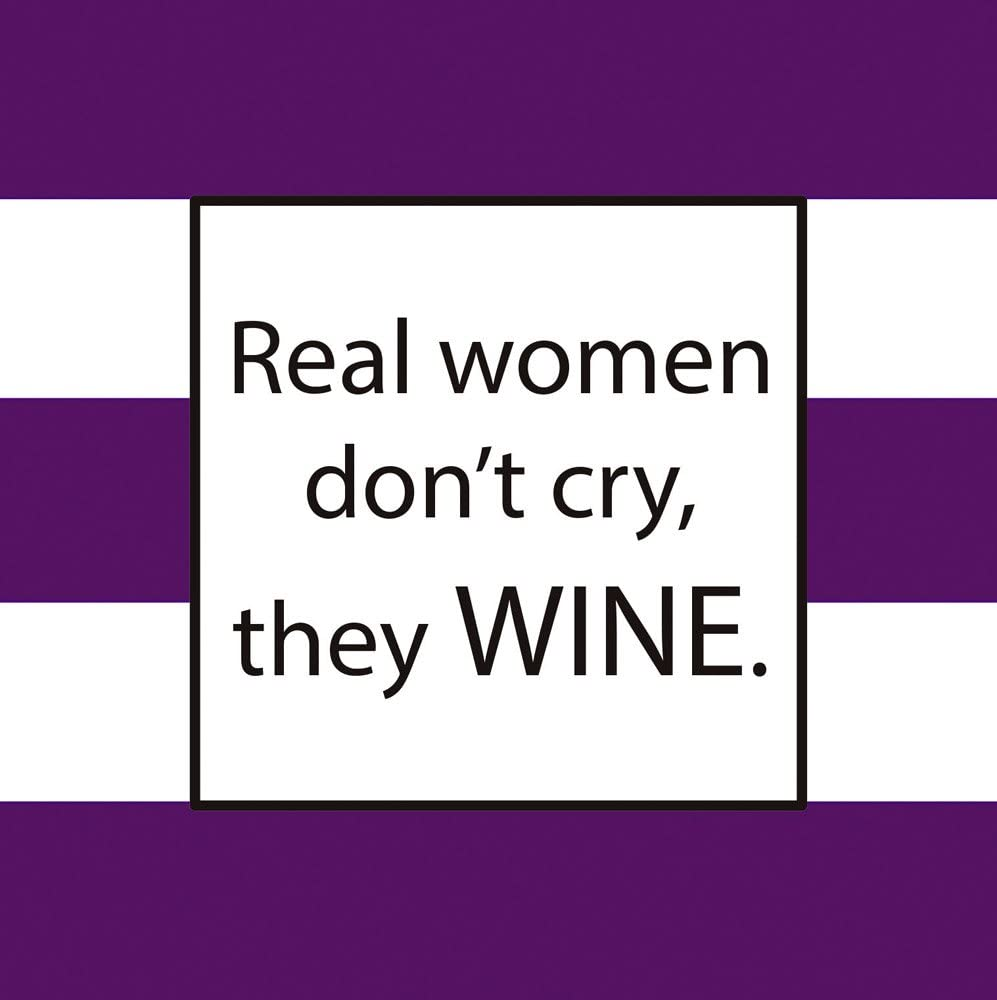 Real Woman Wine Paper Cocktail Napkins