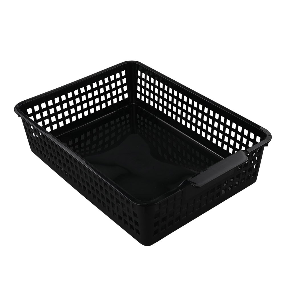 Begale Desktop Storage Basket, for Office Supplies, File, Letter and Document Organizer, 3-Pack
