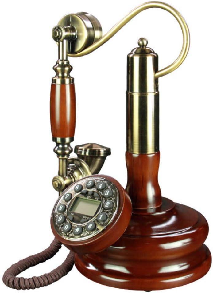 CHEN Antike h/ängen Kreative Telefon Retro Intelligente freisprech hintergrundbeleuchtung Version Telefon dekorative Holz alt via festnetz