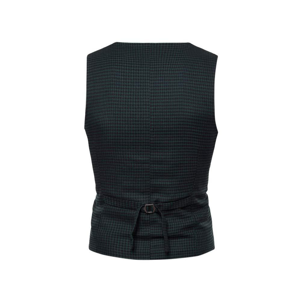 Toimothcn Men Button Casual Print Sleeveless Jacket Coat British Plaid Suit Vest 2356488 Toimothcn-619805