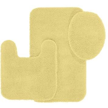 Better Homes And Gardens Extra Soft Bath Rug 3 Piece Set (1, Lemon