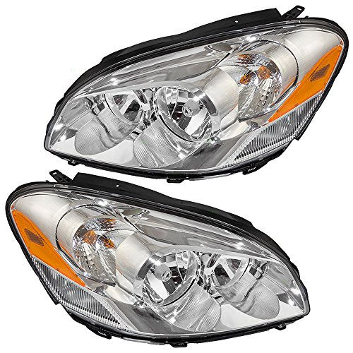 Cornering Lamp Assembly - Pair Set Halogen Combination Headlights Headlamps w/Cornering Lamp Replacement for 06-11 Buick Lucerne 25974773 25974774