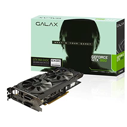 GALAX GEFORCE GTX 960 EXOC 4GB GeForce GTX 960 4GB GDDR5 ...