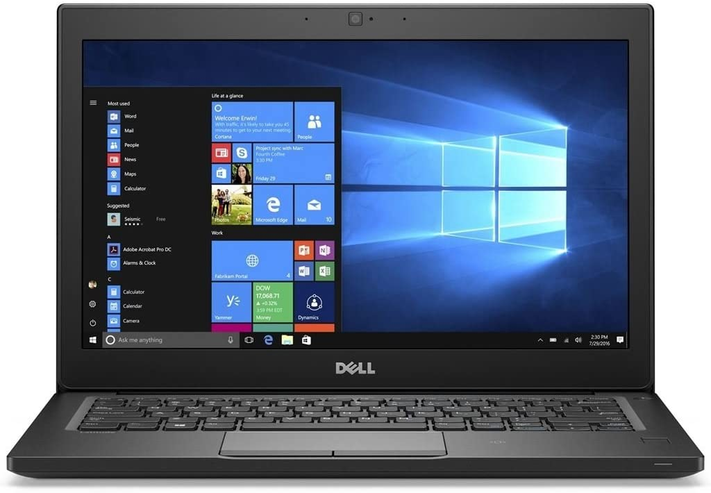 "Dell Latitude 7280 Intel Core i5-7300U X2 2.6GHz 8GB 256GB SSD 12.5"", Black (Certified Refurbished)"