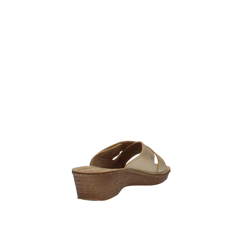 INBLU INBLU INBLU 26000061 Sabbia Ciabatte Donna Sottopiede Anatomico Soft Tomaia Incrociata con Velcro Zeppa 4,5 cm  Sabbia f106cd