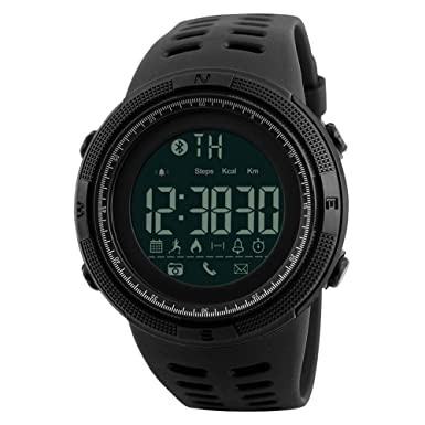 Amazon.com: Smart Watch Men Chrono Calories 5Bar Waterproof Sport Watches Men Call Reminder Bluetooth Digital Watch reloj Hombre 1250,Black: Cell Phones & ...