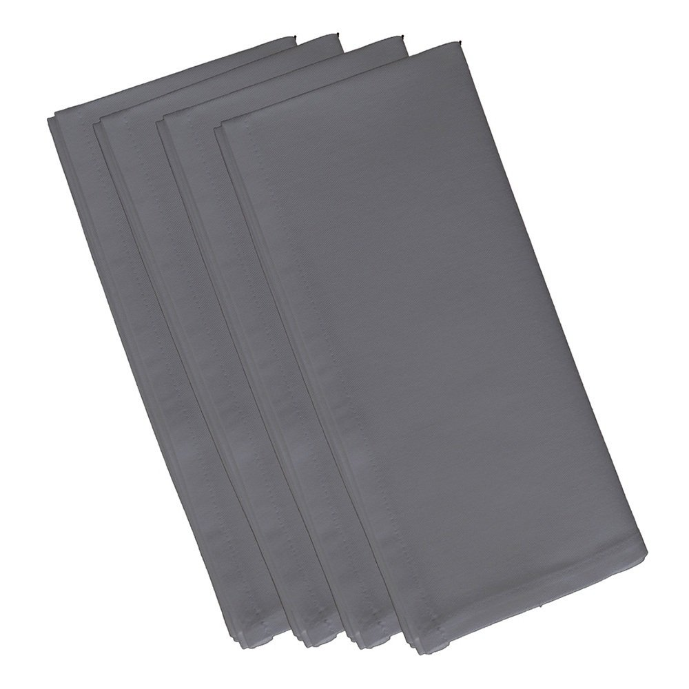 4 Piece Classic Grey Dinner Napkin, (Set Of 4), Solid Pattern, Classic And Contemporary Style, Square Shape, Good Qualitie, Everyday Or Special Occasions, Decorative, Cotton Material, Sage Grey