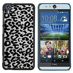 Stuss Case / Funda Carcasa protectora - Motif léopard gris Cheetah - HTC Desire Eye M910x
