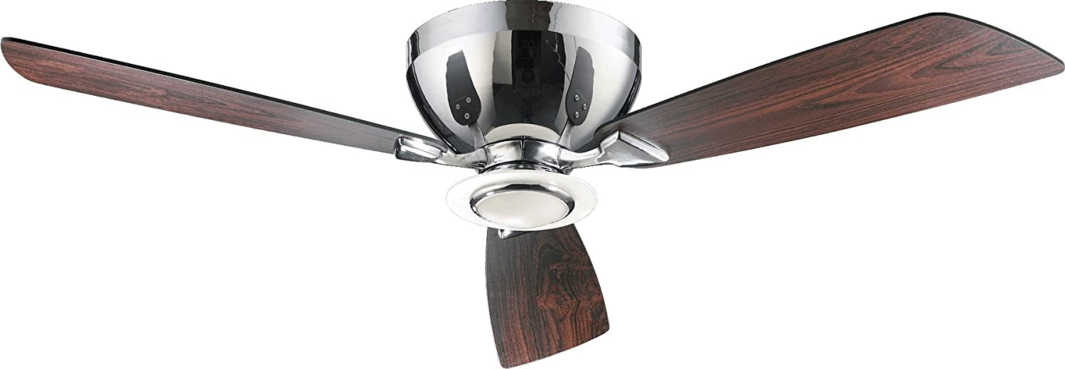 Quorum 7052314 Nikko Chrome Flush Mount 52 Ceiling Fan with