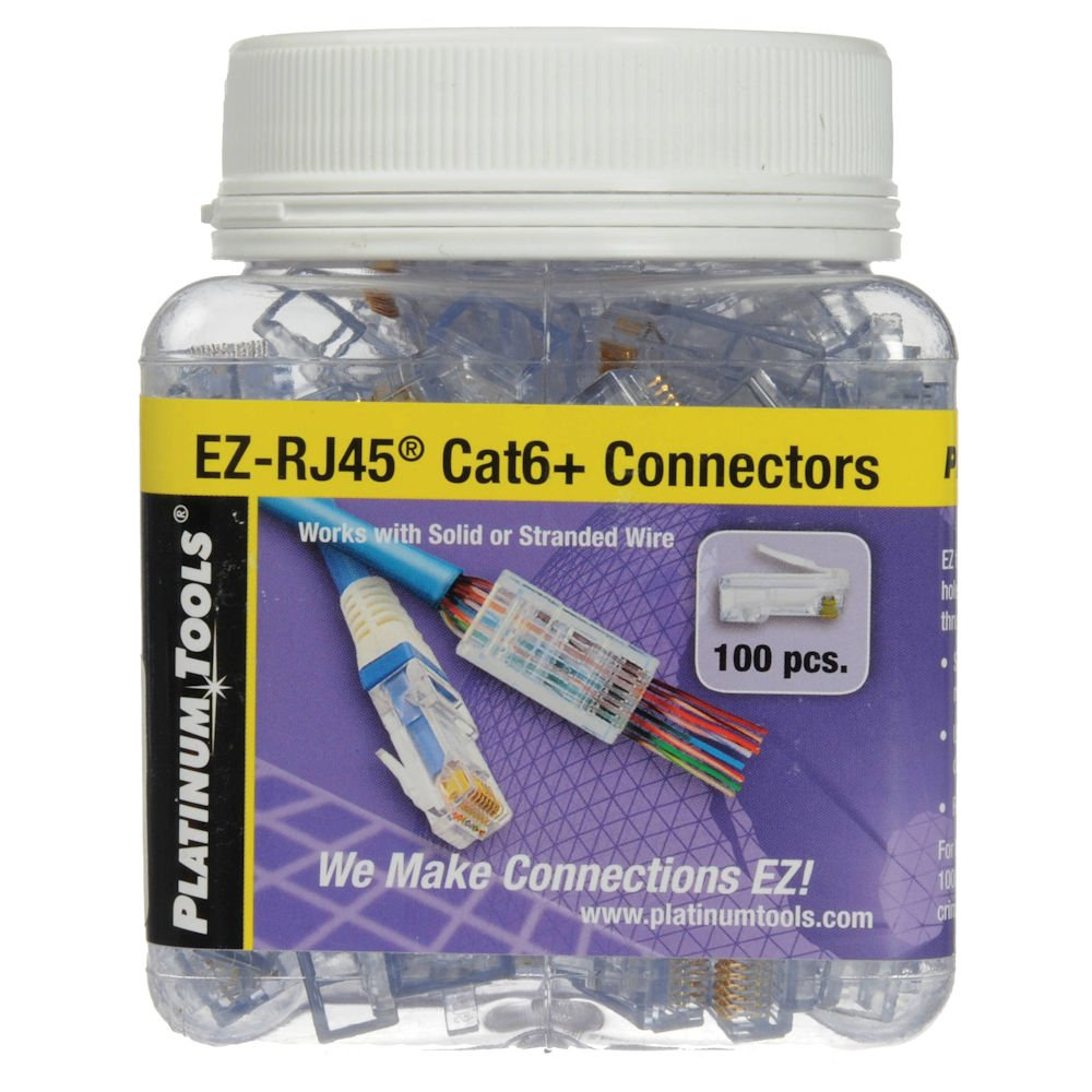 MyCableMart EZ-RJ-45 Modular Plugs for CAT6 Wire, Pack of 100 My Cable Mart NW-26Y8547