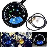 Toogoo LED Motorcycle Backlight Digital 3 Cylinder Tachometer Speedometer Odometer Gauge for Motorbike Be Visibled At Night